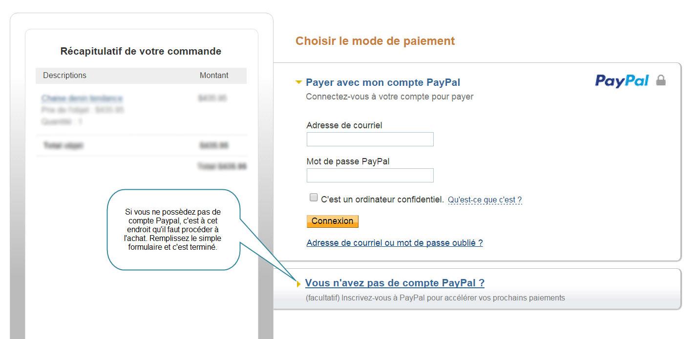 Paypal offre différentes méthodes de paiement